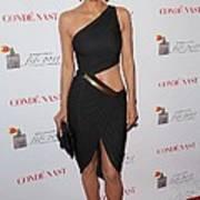 Halle Berry Wearing A Halston Dress Art Print by Everett