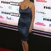 Halle Berry Wearing A Rachel Roy Dress Print by Everett
