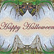 Halloween Fantasmagorical Cicada Card Art Print