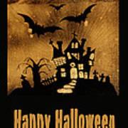 Halloween Quilt Top Art Print by Nancy Greenland