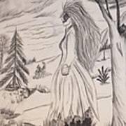 Halloween Witch Walk Art Print