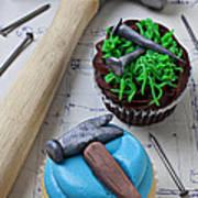 Hammer Cupcake Art Print