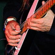 Sun In The Hands And Guitar Of Uli Jon Roth Art Print