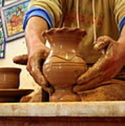 Hands Of The Potter Art Print
