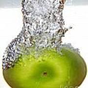 Handy Green Apple Art Print
