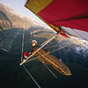 Hang Gliding With Wing-mounted Camera Art Print