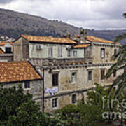 Hanging Out To Dry In Dubrovnik 1 Art Print