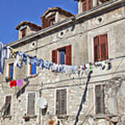 Hanging Out To Dry In Rovinj Art Print