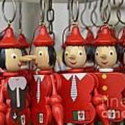 Hanging Pinocchios Puppets Art Print