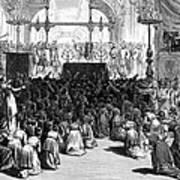 Hannukah Celebration, 1880 Art Print