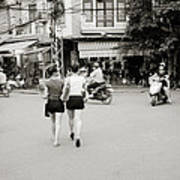 Hanoi Girls Art Print