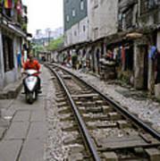 Hanoi Train Tracks Art Print