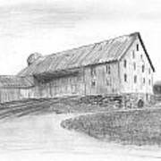 Hanover Barn 1 Art Print by Carl Muller
