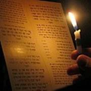Hanukkah By Candlelight Art Print by Tia Anderson-Esguerra