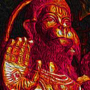 Hanuman The Monkey King Art Print by Naresh Ladhu