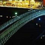 Hapenny Bridge, Dublin City, Co Dublin Art Print