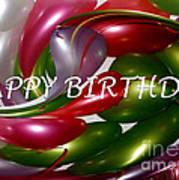 Happy Birthday - Balloons Art Print by Kaye Menner
