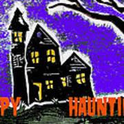 Happy Hauntings Art Print by Jame Hayes