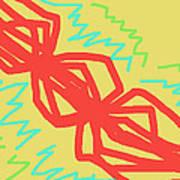 Happy Helix Radiates Energy Art Print