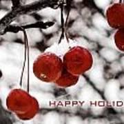 Happy Holidays Berries Art Print