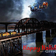 Happy Holidays - Once Upon A Time In The Story Book Town Of Benicia California - 5d18849 Art Print by Wingsdomain Art and Photography