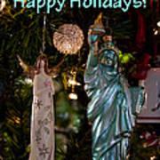 Happy Holidays To All My Friends On Fine Art America Art Print