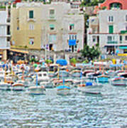 Harbor At Isle Of Capri Art Print