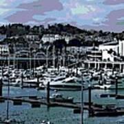 Harbor At Torquay Art Print