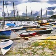 Harbor Boats Art Print
