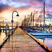 Harbor Town Art Print