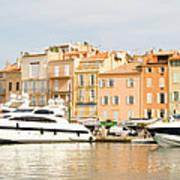 Harbour, St. Tropez, Cote D'azur, France Art Print