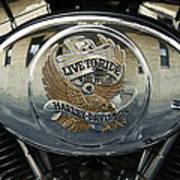 Harley Davidson Bike - Chrome Parts 44c Art Print