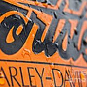 Harley Davidson Logo Art Print