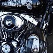Harley Engine Art Print