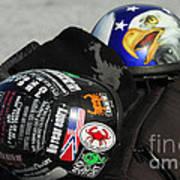 Harley Helmets Art Print