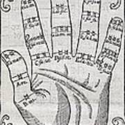 Harmonious Hand, 17th Century Artwork Art Print by Middle Temple Library