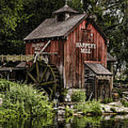 Harpers Mill Art Print by Heather Applegate