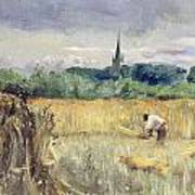 Harvest Field At Stratford Upon Avon Art Print