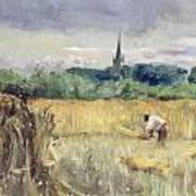 Harvest Field At Stratford Upon Avon Art Print
