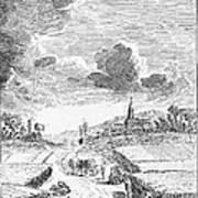 Harvesting, 18th Century Art Print