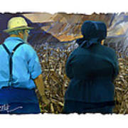 Harvesting The Corn Art Print by Bob Salo