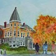 Haskell Free Library In Autumn Art Print