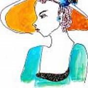 Hat Lady 15 Art Print