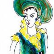 Hat Lady 16 Art Print