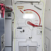 Hatch Door To An Airplane Art Print by Jaak Nilson