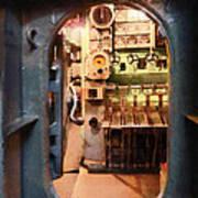 Hatch In Submarine Art Print