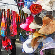 Hats And Purses At Street Fair Art Print