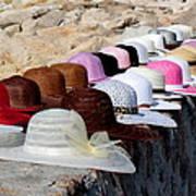 Hats On The Rocks Art Print
