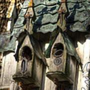 Haunted Birdhouse Art Print