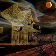 Haunted Evening Art Print by Shirley Sirois